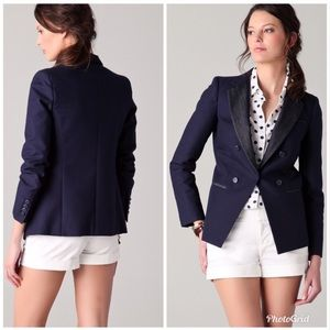 DKNY Mixed Media Blazer Jacket